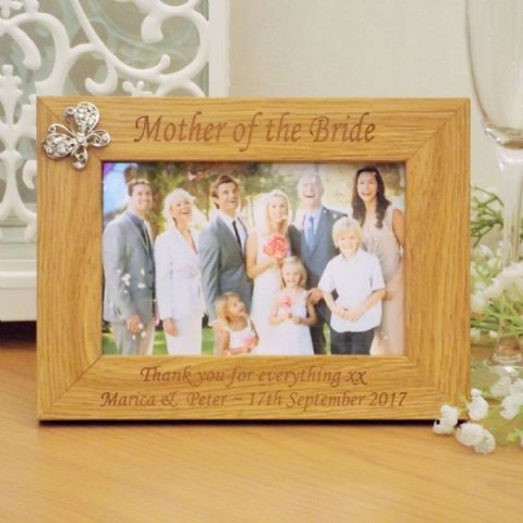Bridesmaid Wooden Butterfly Photo Frame Personalised Wedding Gift